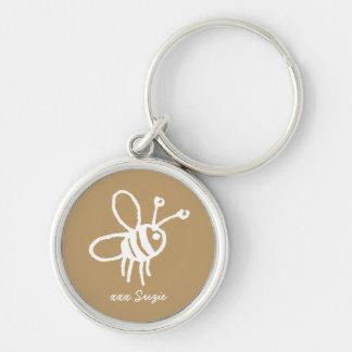 Honey Bee Keyring Keychain
