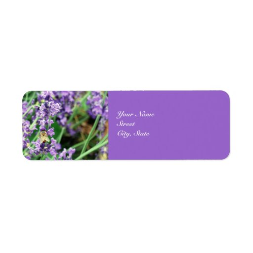 honey bee  u0026 lavender address label