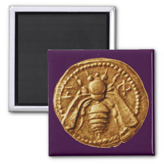 HONEY BEE 2 INCH SQUARE MAGNET