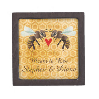 Honey Bee Magnetic Wooden Engagement Ring Box
