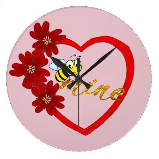 honey bee mine cute beautiful clock design