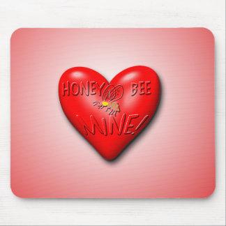 Honey Bee Mine Valentine Mousepads