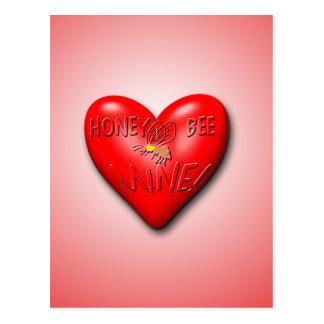 Honey Bee Mine Valentine Postcard
