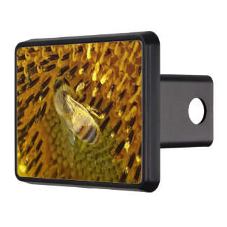 Honey Bee On a Sunflower Trailer Hitch Cover