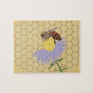 Honey Bee on Flower Painting Puzzle