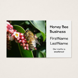 Honey Bee on Flowering Tree Business Card