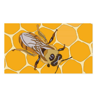 Honey Bee on Honeycomb Double-Sided Standard Business Cards (Pack Of 100)