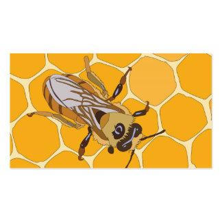 Honey Bee on Honeycomb Business Card