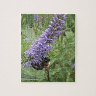 Honey Bee on Purple Flower Jigsaw Puzzle