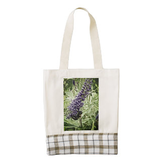 Honey Bee on Purple Flower, Powell Gardens Zazzle HEART Tote Bag