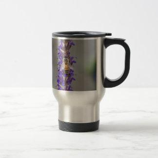 Honey Bee on Salvia Travel Mug