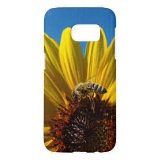 Honey Bee on Sunflower photo case