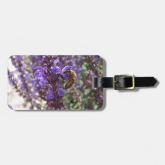 Honey Bee On Woodland Sage Tags For Luggage