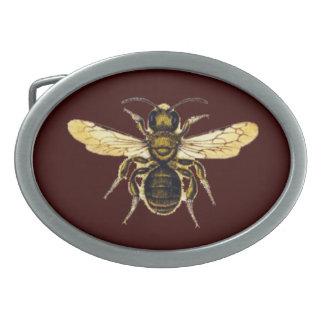 HONEY BEE OVAL BELT BUCKLES