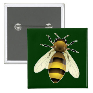 Honey Bee Pinback Buttons