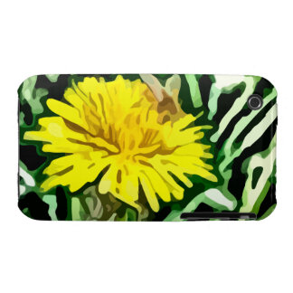 honey bee pollinating yellow flower painting Case-Mate iPhone 3 case