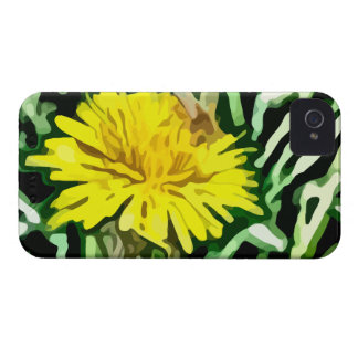 honey bee pollinating yellow flower painting iPhone 4 Case-Mate case