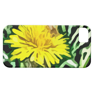 honey bee pollinating yellow flower painting iPhone SE/5/5s case