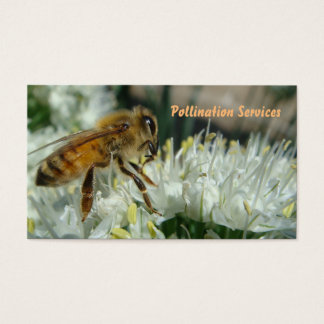 honey bee pollination business card