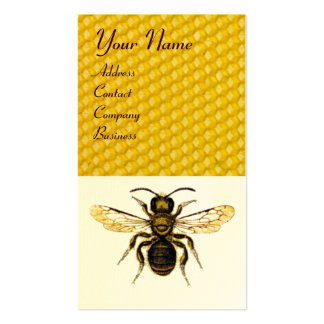 HONEY BEE RED WAX SEAL MONOGRAM BEEKEEPER,Eggshell Business Card