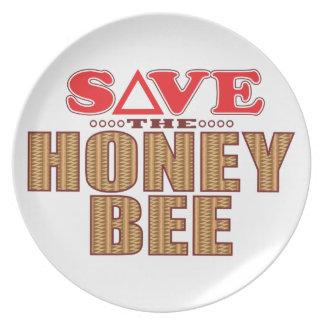 Honey Bee Save Plate