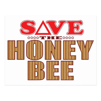 Honey Bee Save Postcard