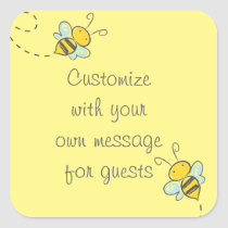 Honey Bee Square Sticker