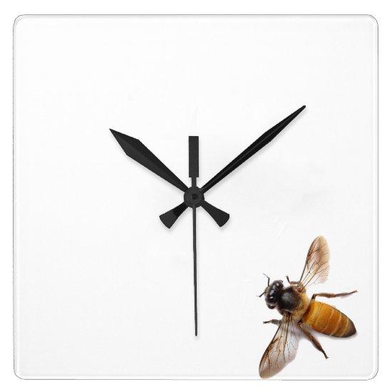 Honey Bee Square Wall Clock