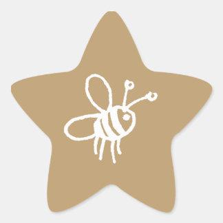 Honey Bee_sticker star_1 Star Sticker