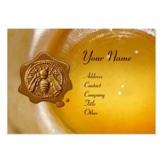 HONEY BEE WAX SEAL ,BEEKEEPER /beekeeping supplies Large Business Card