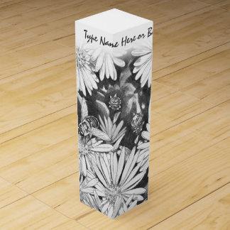 Honey Bee & Wildflower Wine Box Custom Wine Box