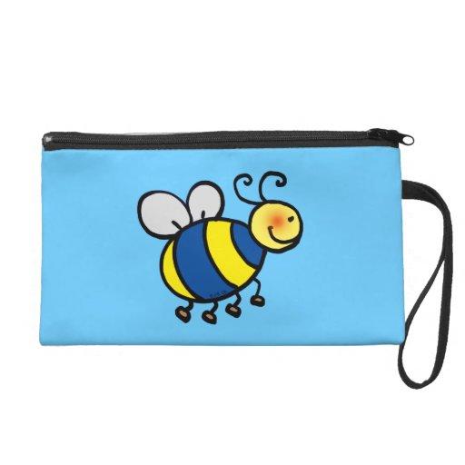 honey bee wristlet purse
