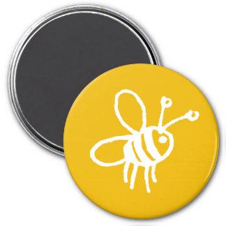 Honey bee yellow 3 inch round magnet