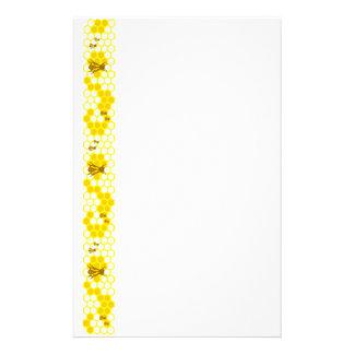 Honey Bee Yellow Honeycomb Stationery