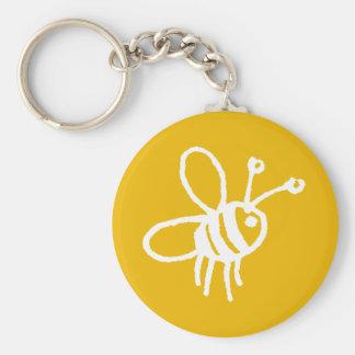 Honey bee yellow keychain