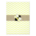 Honey Bee ZigZag Baby Shower 5x7 Paper Invitation Card