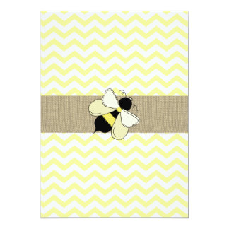 Honey Bee ZigZag Baby Shower Card