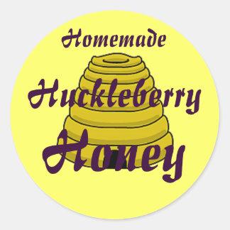 Honey Beehive Homemade Honey Canning label Classic Round Sticker