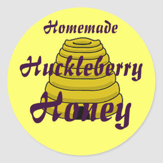 Honey Beehive Homemade Honey Canning label Round Stickers