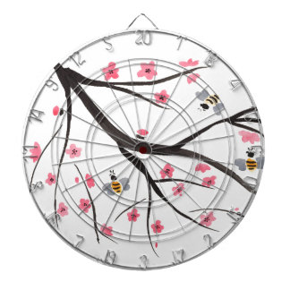 Honey Bees and Cherry Blossoms Dart Board