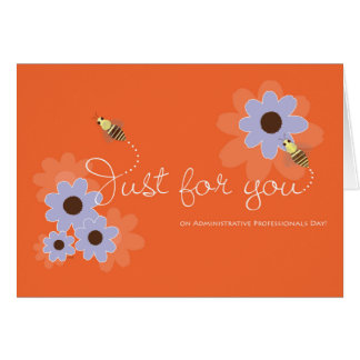 Honey Bees and Flowers Cute Thanks Admin Pro Card