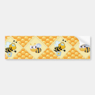 Honey Bees and the Hive Bumper Sticker