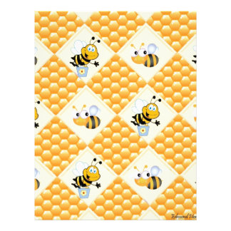 Honey Bees and the Hive Letterhead