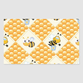 Honey Bees and the Hive Rectangular Sticker