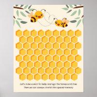 Honey Bees Baby Shower Guest Book Alternative