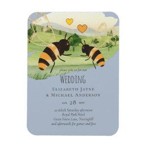 Honey Bees Beek keepers Wedding Magnet