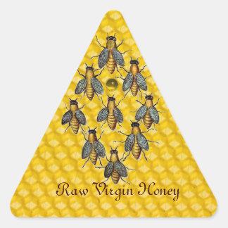 HONEY BEES / BEEKEEPER BEEKEEPING TRIANGLE TRIANGLE STICKER