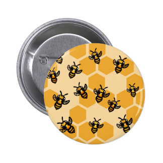 Honey Bees Pinback Buttons