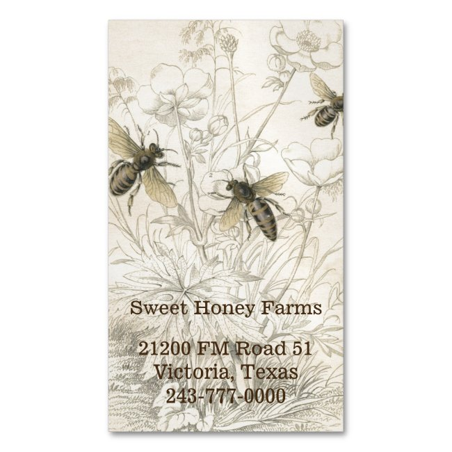 Honey Bees Custom Business Magnet