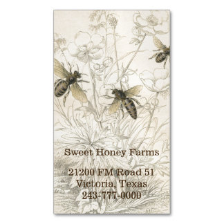 Honey Bees Custom Business Magnet Magnetic Business Cards (Pack Of 25)